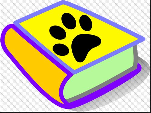 Book with a paw print