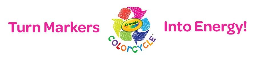 Image of colored recycling symbol with words ColorCycle