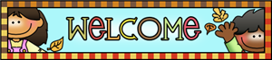 Image of a banner with the word Welcome
