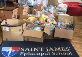 food collected at St. James
