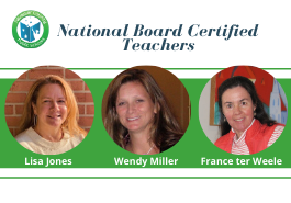 Three FCPS Teachers Earn National Board Certification