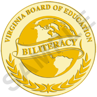 Image of Virginia Board of Education  Biliteracy Seal