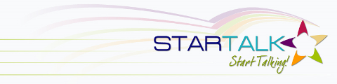 STARTALK Start Talking Logo