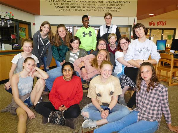 Image of students in the Book Club pic 2018