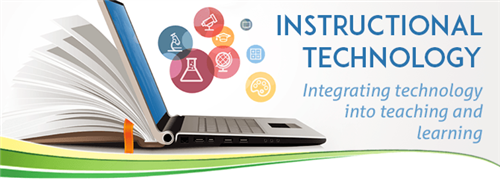 Laptop with text integrating technology into teaching and learning