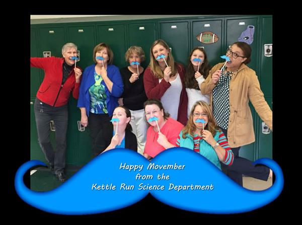 Science teachers have fun with Movember