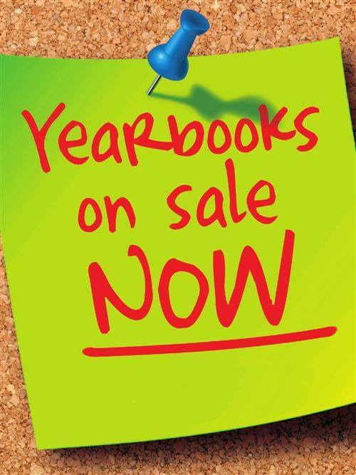 Picture of a sticky note with yearbook sales