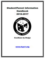 Student/Parent Handbook Cover Page and Link