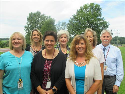 Picture of the Special Education Admin Staff with 7 people present