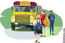 image of bus with students
