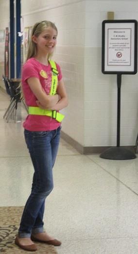Image of a safety patrol student
